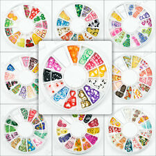 1 Wheel Mixed 3D Fimo Clay Slice Nail Art Tips Gems Decoration 9 styles