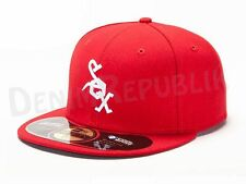 New Era 59FIFTY CHICAGO WHITE SOX 1972 Throwback MLB Baseball Cap Red Old School