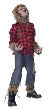 WOLFMAN COSTUME CHILD COSTUME Big Bad Wolf Beast Theme Party Scary Halloween
