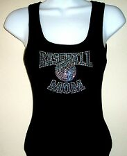 NEW RHINESTONE BASEBALL TANK TOP SHIRT BLACKS PLUS  SIZE: S,M,L,XL,2XL,3XL TEES