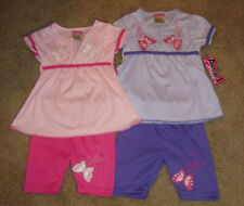 INFANT GIRLS  2PC TOP & CAPRI BUTTERFLY OUTFIT SIZES 12 & 18 MONTHS  NWT