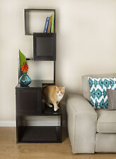 The Sebastian Modern Cat Tree in Black or White by Designer Pet Products