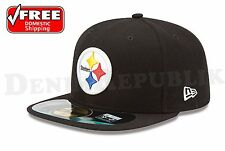 New Era 5950 PITTSBURGH STEELERS NFL Official On Field Cap Fitted Black Hat