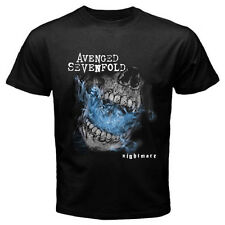 AVENGED SEVENFOLD A7X Nightmare Metal Rock Band Mens Black T-Shirt Size S-3XL