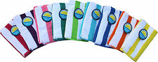 Personalized Embroidered Monogrammed Striped Beach Towel 30x60 Cotton Towels