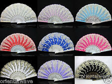 Multicolor Spanish FLAMENCO Wedding Party Folding Beautiful Dancing Hand Fan