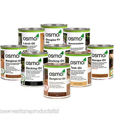 Osmo Exterior Wood & Decking Oil 750ml - available in 10 Colour Shades