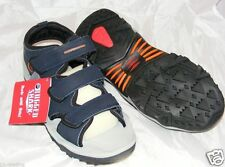 NIB $70+ RUGGED SHARK NAVY LEATHER SANDALS  Boat/Hike/Water/City FAST FREE SHIP!