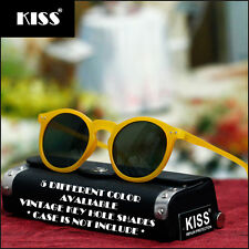 NEW MENS WOMENS VINTAGE FASHION TRENDY SUNGLASSES KEY HOLE BRIDGE ROUND SHADES