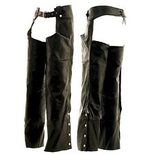 LEATHER CHAPS SIZE SMALL THROUGH XXXL - BRAND NEW! HAWG HIDES - LOOK! S-XXXL