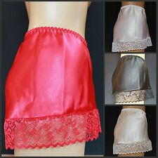 SEXY SATIN and Lace LUXURY French Knickers All Sizes Red, Cream, White or Black