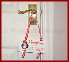 Personalised Family Name Christmas Hanging Cute Plaque Sign Decoration Home Gift