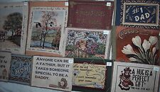 TAPESTRY unfinished fabric squares woven poly/cotton sayings quotes
