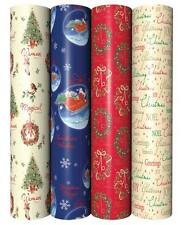 5M Roll Christmas Wrapping Paper - Choice of 12 Designs Christmas Giftwrap