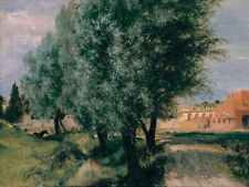 Building Site With Willows Adolph Menzel 1846 Art Photo/Poster Reproduction