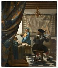 -Art Painting Jan Vermeer 1668-Art Photo/Poster Repro Print Many Sizes  A0/