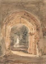 Photographic Reprint East Bergholt Church Looking Out South Archway Of
