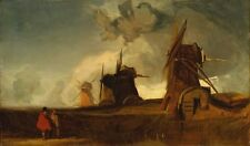 Drainage Mills In Fens Croyland Lincolnshire John Sell Cotman 1835-Art Poster