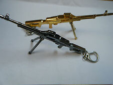 MACHINE GUN SCALE MODEL REPLICA RIFLE GOLD OR BLACK FREE UK POSTAGE GIFT IDEA