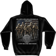 United States Army Hoodie All Men Are Created Equal Military Soldier Brotherhood