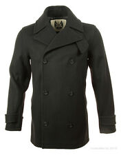 British Duffle Men's Reefer Jacket - Black BDMBLK002