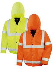 Result EN471 High Viz Vis YELLOW Winter Blouson Motorway Jacket Coat