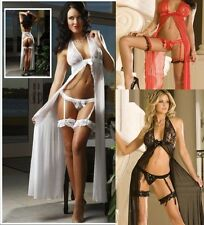 Sexy Lingerie Long Chemise  Babydoll with G string size  Bridal Wedding