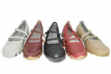Ladies Shoes Be Me Akee Leather Flats Black or Red Casual Work Shoes Size 5-10