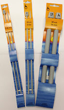 PONY CLASSIC SINGLE POINT KNITTING NEEDLES 30CM LENGTH 2mm - 15mm FREE POSTAGE