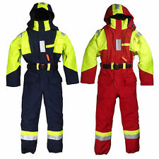 Te'havs Hi-Viz Marine Safety Suit Waterproof Jacket Overall Coverall Sailing New