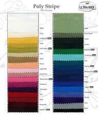 polyester stripe 60 inch round or  60 x 60 square tablecloth in 26 solid colors