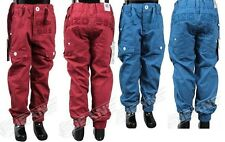 BRAND NEW BOYS ENZO EZB152/EZB153 CUFFED BLUE/RED CHINO JEANS. SIZES 24-29