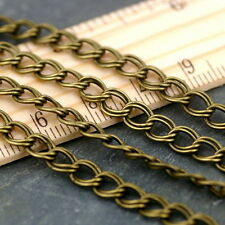 6.4x5.3mm Plated Vintaged Double Curb Chain c203 (3ft)