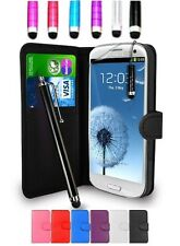 Leather Wallet Flip Case Cover Pouch For Samsung GT-I9300 Galaxy S3 I9305 S III