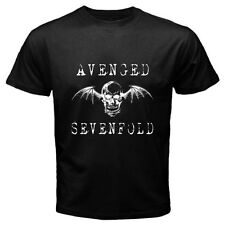 New AVENGED SEVENFOLD A7X Logo Metal Rock Band Mens Black T-Shirt Size S-3XL