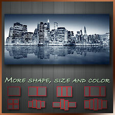 ' New York City Night Cityscape ' Panoramic Modern Canvas Art More Style & Color