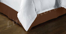 """TAILORED BED SKIRT, PLEATED DUST RUFFLE, 14"""" DROP, BROWN GOLD, TWIN QUEEN KING"""