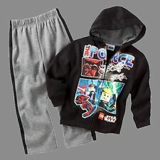 LEGO STAR WARS THE FORCE Boy's Size 4, 5, 6 Hoody Jacket Pants Set, Outfit, NEW