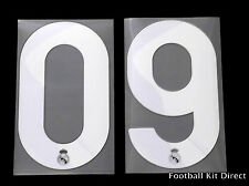 Real Madrid 2009/10 Football Shirt Numbers Player Size Away