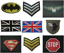 EMBROIDERED MILITARY SUPERMAN BATMAN SERGEANT SMILEY STOP SIGN IRON SEW ON PATCH