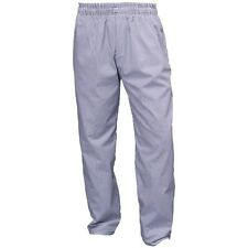 Chef Trousers, White & Blue Check, Chef's Baggies - (NB02)
