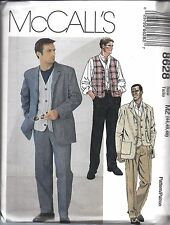 UNCUT McCalls Vintage Sewing Pattern Men's Unlined Jacket Vest Pants 8628 OOP FF