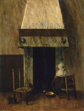 Photo Print Vrel Jacobus An Old Woman By A Fireplace #jwnh5055