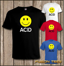 ACID HOUSE SMILEY FACE 90's Rave Club Hardcore Party MENS T-SHIRT