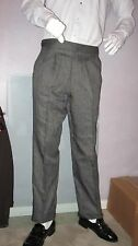 VINTAGE MENS TUXEDO GRAY PANTS WITH BLACK STRIPE / U.S. MADE / AFTER SIX SLACKS