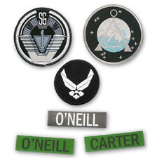 STARGATE SG-1 - Team Patch Set: SG-1, Earth Chevron, USAF Wings & Name Tape...