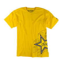 ONE INDUSTRIES ROCKSTAR PUZZLED T SHIRT YELLOW CHEAP NEW MX MOTOCROSS BMX TEE