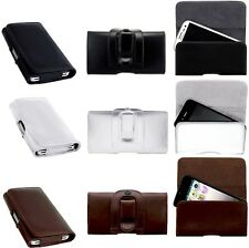 BELT CLiP ORGANIC LEATHER POUCH CASE COVER HOLSTER for Blackberry Curve 8520