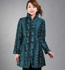 5 colours Chinese women's silk jacket coat Cheongsam Sz: M L XL 2XL 3XL 4XL
