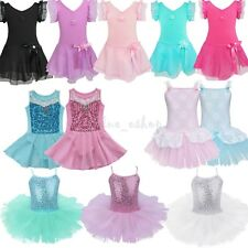 Girls Kid Ballet Tutu Leotard Dance Skate Skirt Party Dress Dancing Costume 2-14